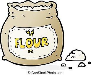 漫画, 袋, 小麦粉