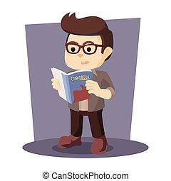 漫画, 読書, nerd