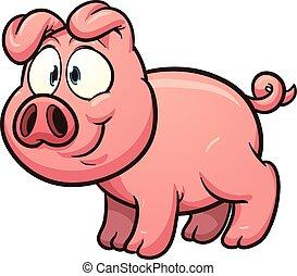 漫画, 豚