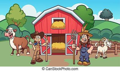 漫画, 農場