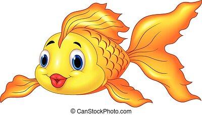漫画, 透明, 金魚