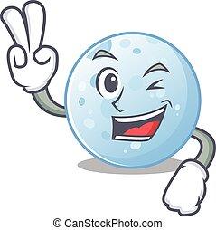 漫画, 青, 概念, 月, デザイン, 2本の指, 幸せ