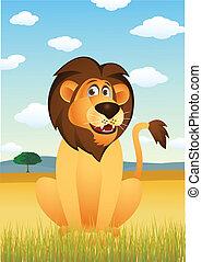 漫画, 面白い, ライオン