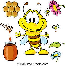 漫画, 面白い, 蜂