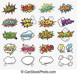漫画, 音, 効果