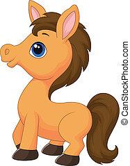 漫画, 馬, かわいい