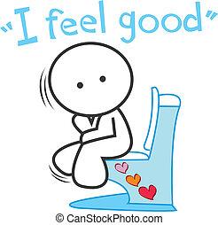 漫画, i, 気分が良い気分が良