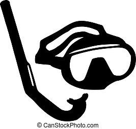 潛水面具, 以及, 水下通气管