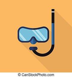 潛水面具, 由于, 水下通气管, 套間, 圖象