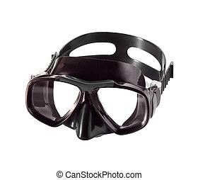 潛水面具, 被隔离, 在懷特上, 背景