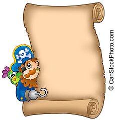 潜む, 海賊, 羊皮紙