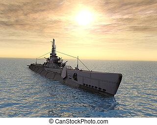 潜水艇, 触发器, uss, ww2