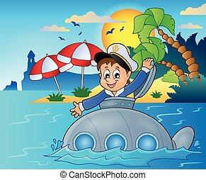 潜水艦, イメージ, 主題, 4, 船員
