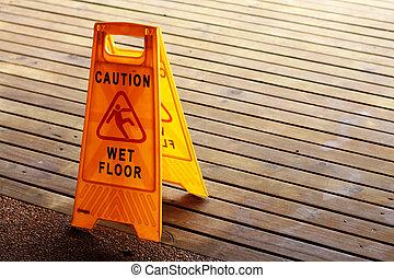 潮湿, 签署, 地板
