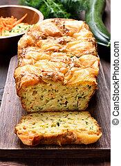 潮湿, 蔬菜, 蛋, zucchini, bread