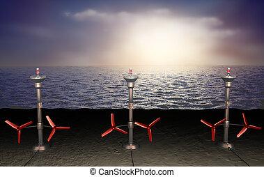 潮, エネルギー, イラスト