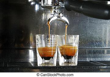 濃咖啡, 射擊