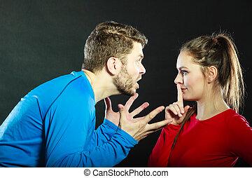 濫用, 女, 妻, silence., 請求, 夫, 人