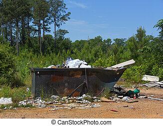 濫用, dumpster
