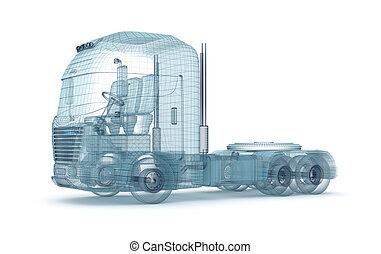 濾網, 卡車, 被隔离, 在懷特上