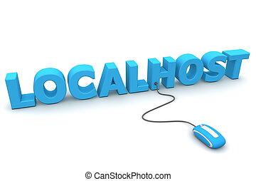 瀏覽, the, localhost, -, 藍色, 老鼠