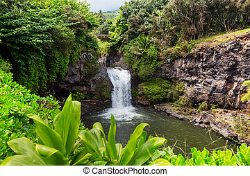 瀑布, 上, 夏威夷