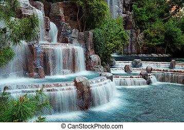 瀑布, 山, 拉斯维加斯