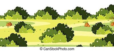 灌木, 草, 風景, 背景