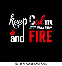 火の安全性, デザイン, t の ワイシャツ