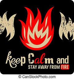 火の安全性, 印