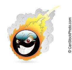 火の玉, smiley