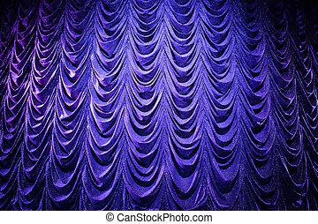 火をつけられた, 明るく, 劇場, カーテン