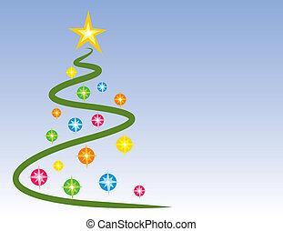 火をつけられた, 木, クリスマス