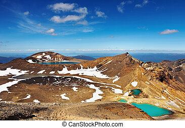 火山の風景, ニュージーランド