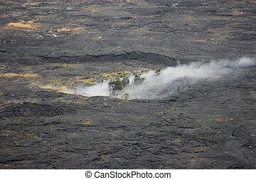火山口, 底部