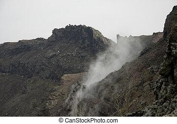 火山口, ......的, the, vesuvius
