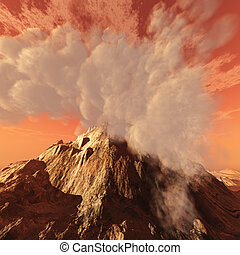 火山的彈坑