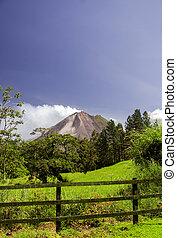 火山, costa, -, arenal, rica