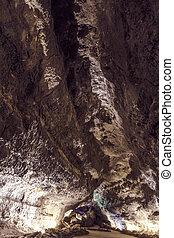 火山, cueva, -, 洞穴, los, de, verdes