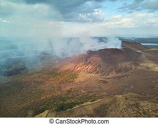 火山, masaya, ニカラグア