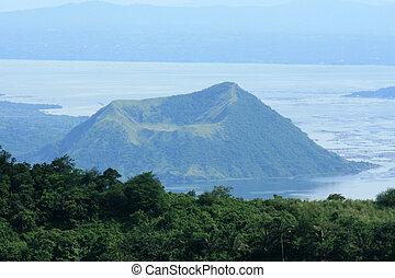 火山, taal, -, フィリピン, luzon