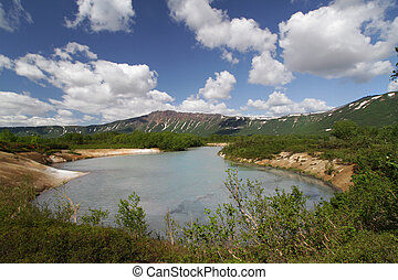火山, uzon, 湖, カルデラ