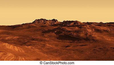 火星の風景, イラスト