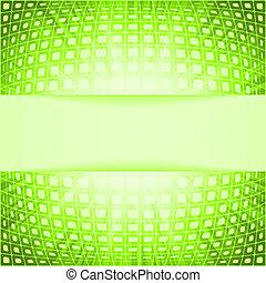 火炎信号, eps, burst., 緑, 8, 正方形, 技術