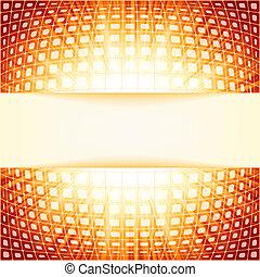火炎信号, eps, burst., 8, 正方形, 技術, 赤