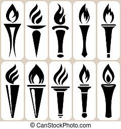 火炬, 集合, 圖象
