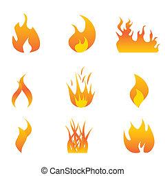 火焰, 圖象, 集合