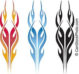火焰, 汽車, 紋身