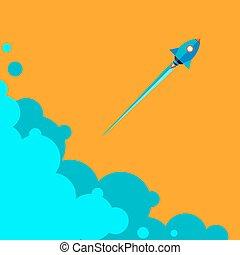 火箭, 事務, 向上, 項目, 開始, 新