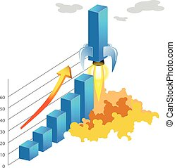 火箭, 條形圖, 事務, 統計